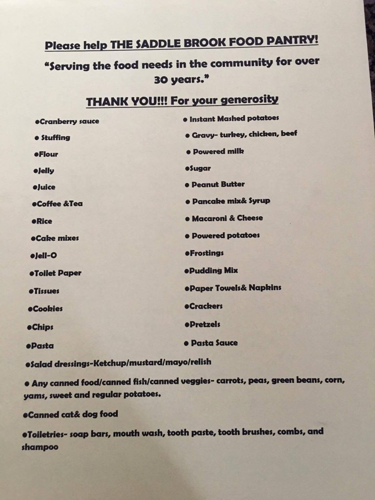 Emergency Food Assistance Township Of Saddle Brook New
