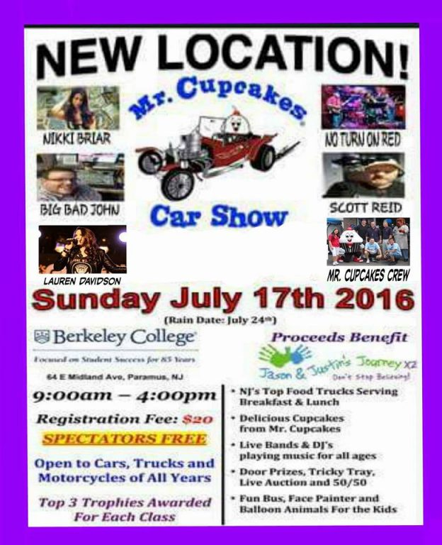 Mr Cupcakes Car Show Township Of Saddle Brook New Jersey - Car shows in nj