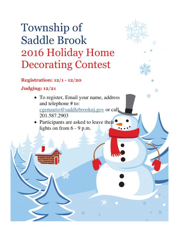 christmas home decorating contest home decorating contest township of saddle brook 10586