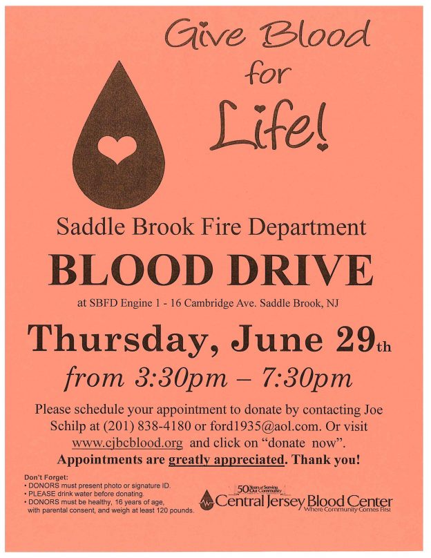 fire department blood drive